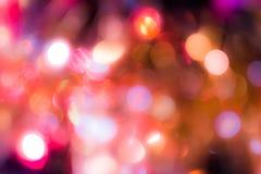 Abstrakt bokeh på färgrik bakgrund Royaltyfria Bilder