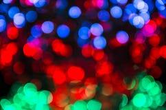 Abstrakt bokehbakgrund av julljus Royaltyfri Foto