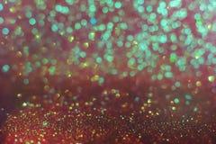 Abstrakt bokehbakgrund för rosa tappning, feriebakgrund för glad jul och för nytt år royaltyfri fotografi