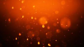 Abstrakt bokehbakgrund f?r guld verkliga dammpartiklar med verkliga linssignalljusstj?rnor bl?nka ljus royaltyfri illustrationer