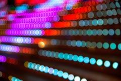 Abstrakt bokehlampor Arkivfoton