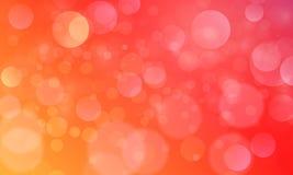 Abstrakt bokehljuseffekt med röd orange bakgrund, bokehtextur, bokehbakgrund, vektorillustration stock illustrationer