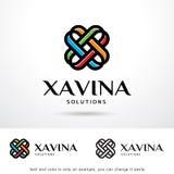 Abstrakt bokstav X Logo Template Design Vector Stock Illustrationer