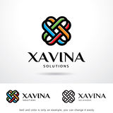 Abstrakt bokstav X Logo Template Design Vector Royaltyfri Fotografi