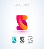 Abstrakt bokstav S eller 2 origami utformar logomallen applejacken Arkivfoto