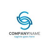 Abstrakt bokstav S Logo Template Design Vector, emblem, designbegrepp, idérikt symbol, symbol Royaltyfri Bild