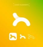 Abstrakt bokstavsH eller origami utformar logomallen applejacken Royaltyfri Foto
