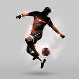 Abstrakt boll för fotbollbanhoppninghandlag Royaltyfri Foto