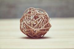 Abstrakt boll som vävas från ris Royaltyfri Bild