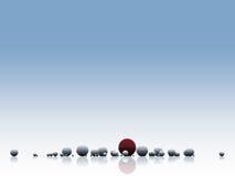abstrakt bollmodell Arkivbild