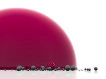 abstrakt bollmodell Arkivfoto