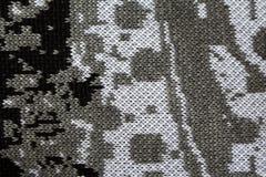 Abstrakt bomull stucken textur som bakgrund grå färg- och vittrådar Royaltyfri Foto
