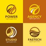 Abstrakt brand Logo Template Design Vector Fotografering för Bildbyråer