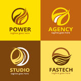 Abstrakt brand Logo Template Design Vector Stock Illustrationer