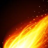 Abstrakt brandflammaljus på svart bakgrundsillustration Royaltyfria Bilder