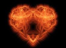 abstrakt brandhjärtaformer Arkivfoto