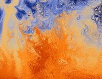 abstrakt brandillustration Arkivfoto