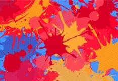 Abstrakt brigntbakgrund för röda färgstänk Royaltyfri Bild