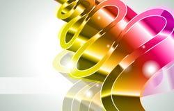 abstrakt briljant färgglödlampor royaltyfri illustrationer