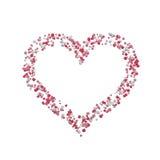 Abstrakt brokig färgglad hjärta som isoleras på vit bakgrund Arkivbilder