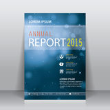 Abstrakt broschyr-, årsrapport- eller reklambladdesignmall Arkivbild