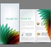 Abstrakt broschyr Fotografering för Bildbyråer