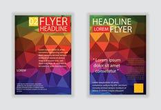 abstrakt broschyrdesign Reklambladdesignvektor i formatet A4 Royaltyfria Bilder