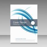 Abstrakt broszurki projekta kreskowy szablon Zdjęcie Royalty Free