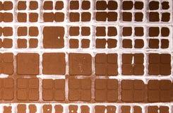 Abstrakt brown ceramiczna tekstura z pobrudzonym białego kwadrata bac Obraz Royalty Free