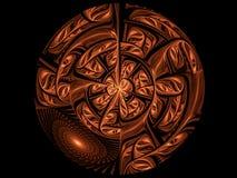 abstrakt brun diskett Royaltyfri Fotografi