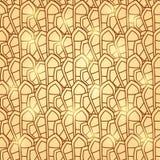 Abstrakt brun geometrisk sömlös modell Royaltyfri Fotografi