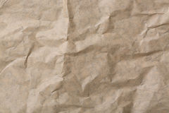 Abstrakt brunt återanvänder skrynkligt papper för bakgrund papper texturerar bakgrund Arkivbilder
