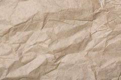 Abstrakt brunt återanvänder skrynkligt papper för bakgrund papper texturerar bakgrund Arkivfoto