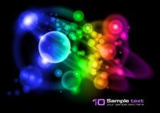abstrakt bubblor planlägger vektorn stock illustrationer