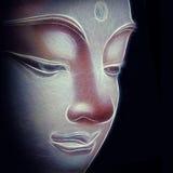 abstrakt buddha vektor illustrationer
