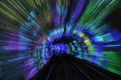 Abstrakt Bundtunnel i Shanghai Arkivbilder
