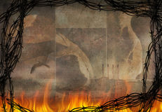 abstrakt burning Royaltyfri Foto