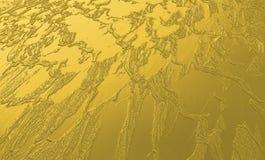 Abstrakt buse och texturerad guld- metallisk bakgrund Arkivbilder