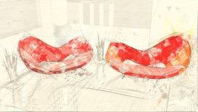 Abstrakt bygddesign för hus vektor illustrationer