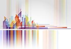Abstrakt byggnads- och stadsillustration Fotografering för Bildbyråer