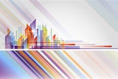 Abstrakt byggnads- och stadsillustration Arkivbilder