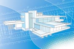 abstrakt byggnadsfallingwaterplan Arkivbild