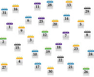 Abstrakt calendar set Stock Photography