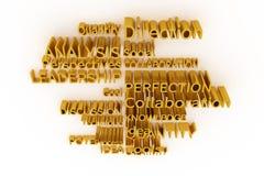 Abstrakt CGI-typografi, affär gällde nyckelord Tapet för grafisk design Riktning ledarskap, perspect, process royaltyfri illustrationer