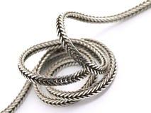 abstrakt chain silver Arkivfoton
