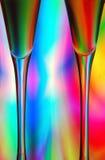 abstrakt champagneexponeringsglas Arkivfoton