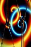 abstrakt champagneexponeringsglas Arkivfoto