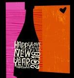 Abstrakt champagneflaska för lyckligt nytt år 2018 royaltyfri illustrationer