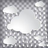 Abstrakt chmurnieje z podeszczowymi kroplami na popielatym chequered tle Fotografia Stock