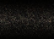 Abstrakt ciemny tło z małą mieszanką sortował złocistego okręgu sha royalty ilustracja